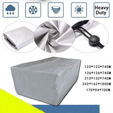 8 Sizes Silver Waterproof Outdoor Patio Garden Furniture Covers Rain Snow Chair covers for Sofa Table Chair Dust Proof Cover