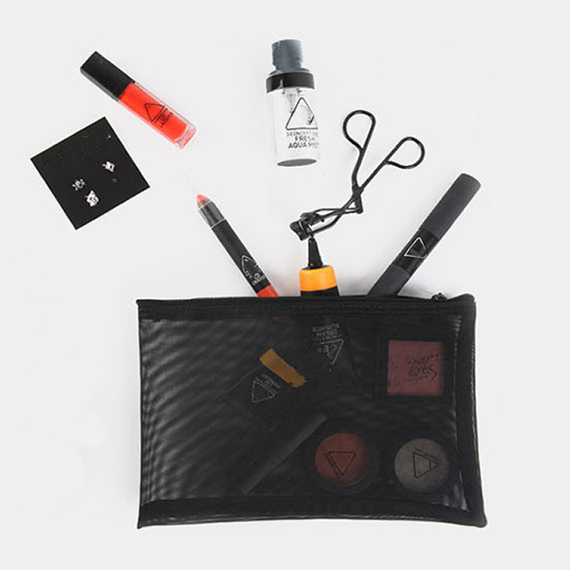 Fashion Transparent Grid Cosmetic Bag Travel Makeup Bag Zipper Make Up Organizer Storage Pouch Toiletry Beauty Wash Kit Case make up set tool cosmetic toiletry kit tool accessories makeup portable travel storage cosmetic fashion pouch bag
