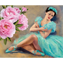 Diamond paint diamond Diy embroidery Kiss in flowers 5d square mosaic full Crafts flower