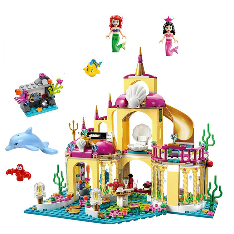 City Friend Princess Ariel's Undersea Palace With Mermaid Ariel And Alana Building Blocks Christmas Gifts Grils Toys
