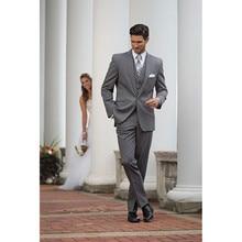 men suit slim fit wedding groom tuxedo gray custom made suits 3 piece fashion 2017 tuxedo for man
