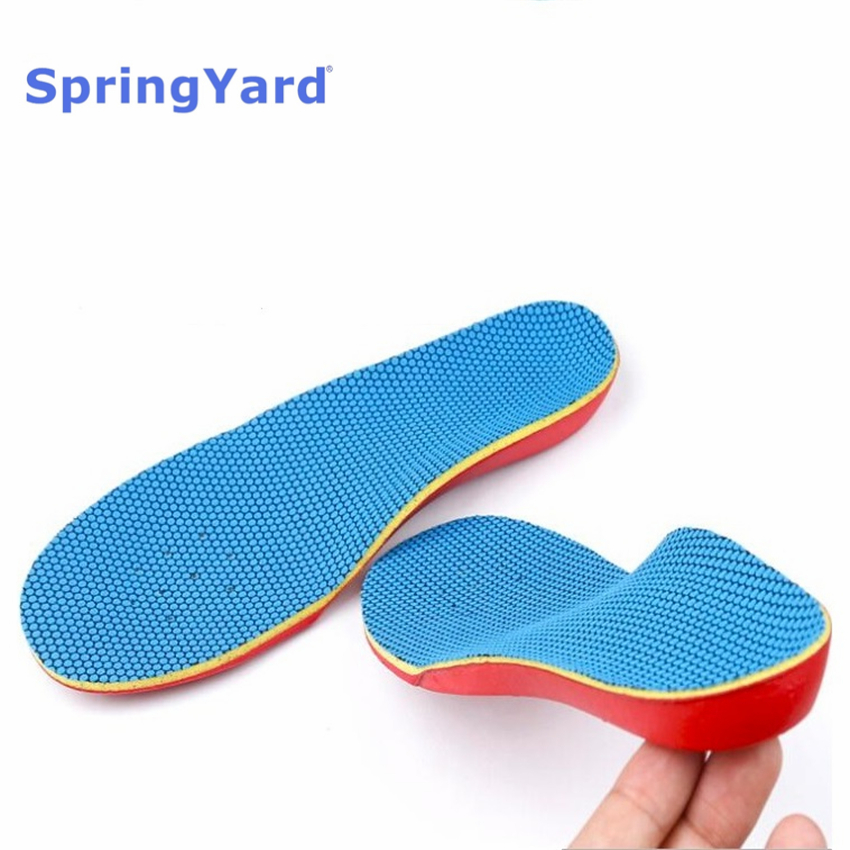 SpringYard EVA Kids Orthopedic Insoles Children Flat Foot Arch Support Orthotics Shoe Pad X/O-Legs Breathable Stable Care