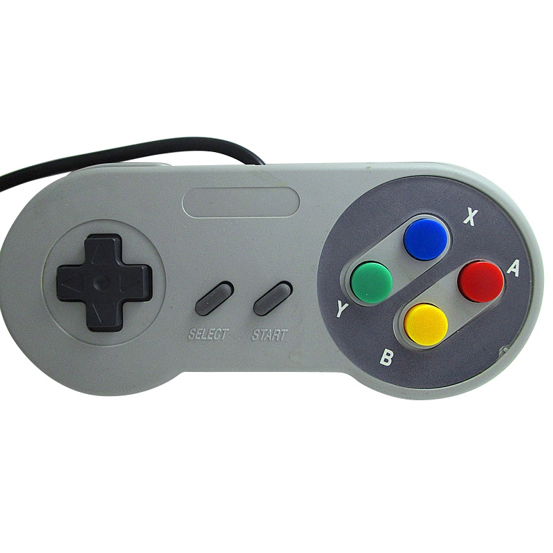 Classic 16 Bit Game Controller ABS for Super Nintend SNES System Console Control Pad-in Gamepads from Consumer Electronics