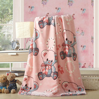 Baby blanket new thick double layer quality baby stroller newborn baby blanket swaddle hold newborn baby blanket bed 100 * 140cm