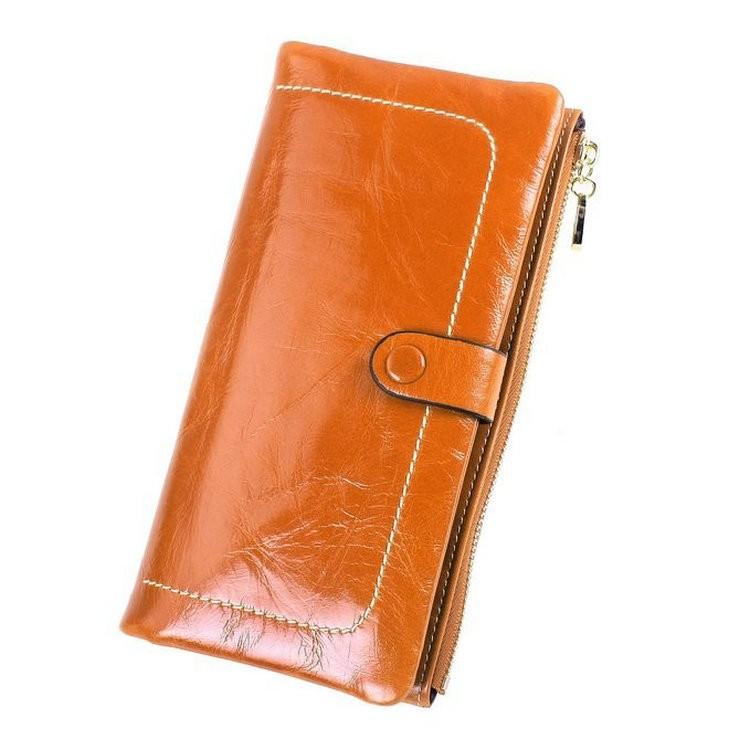 Ladies wallets leather brown