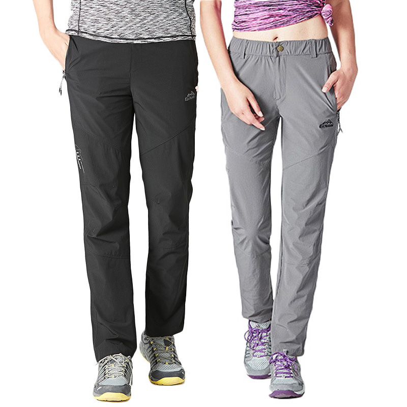 LoClimb Stretch Nylon Hiking Pants Men/Women Outdoor Sprots Quick Dry Trousers Man Nature Mountain/Cycling/Trekking Pants AM228