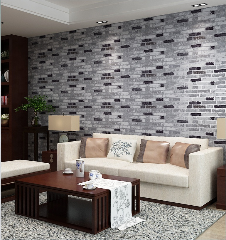 Superbe Haok Home PVC Vinyl Vintage Faux Brick Stone 3D Wallpaper Living Room  Bedroom Home Wall Decoration,0.53m*10m/roll In Wallpapers From Home  Improvement On ...