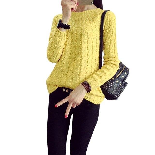 Laamei סתיו החורף מקרית סוודר נשים אופנה דפוס סוודרים נשי בסיסי סוודר מגשרים ארוך שרוול סרוג
