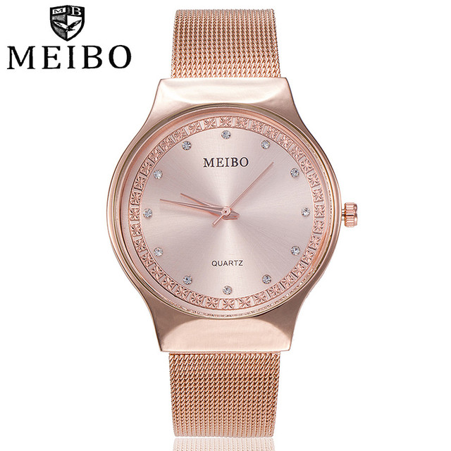 Fashion Rhinestone Women Watches Ladies Dress Crystal Stainless Steel Mesh Quart