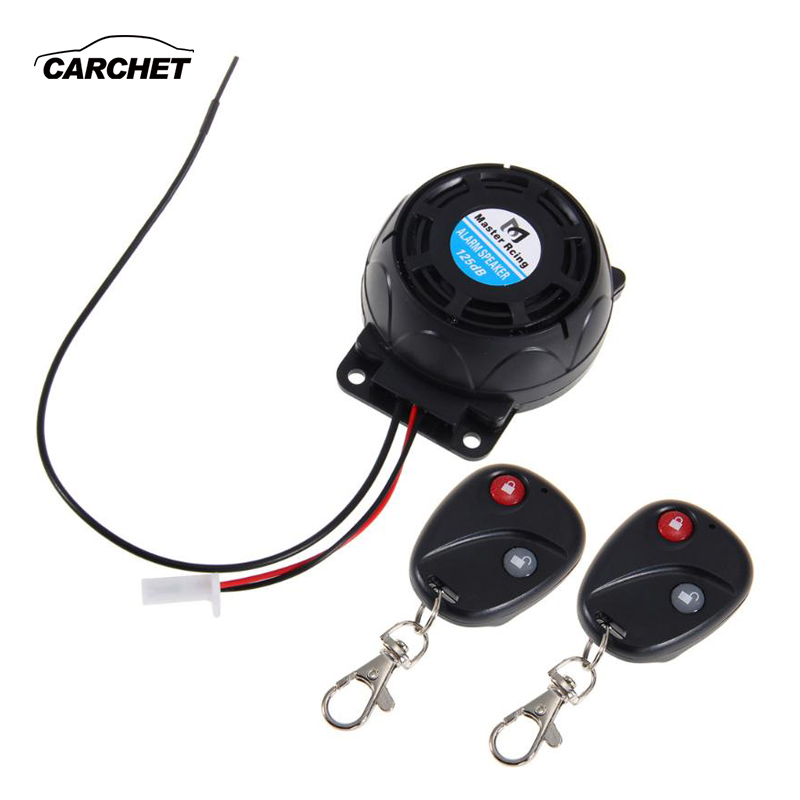 CARCHET Motorcycle Alarm System Anti-theft Security Alarm System With 2 Remote Control Engine Start For Honda For Yamaha