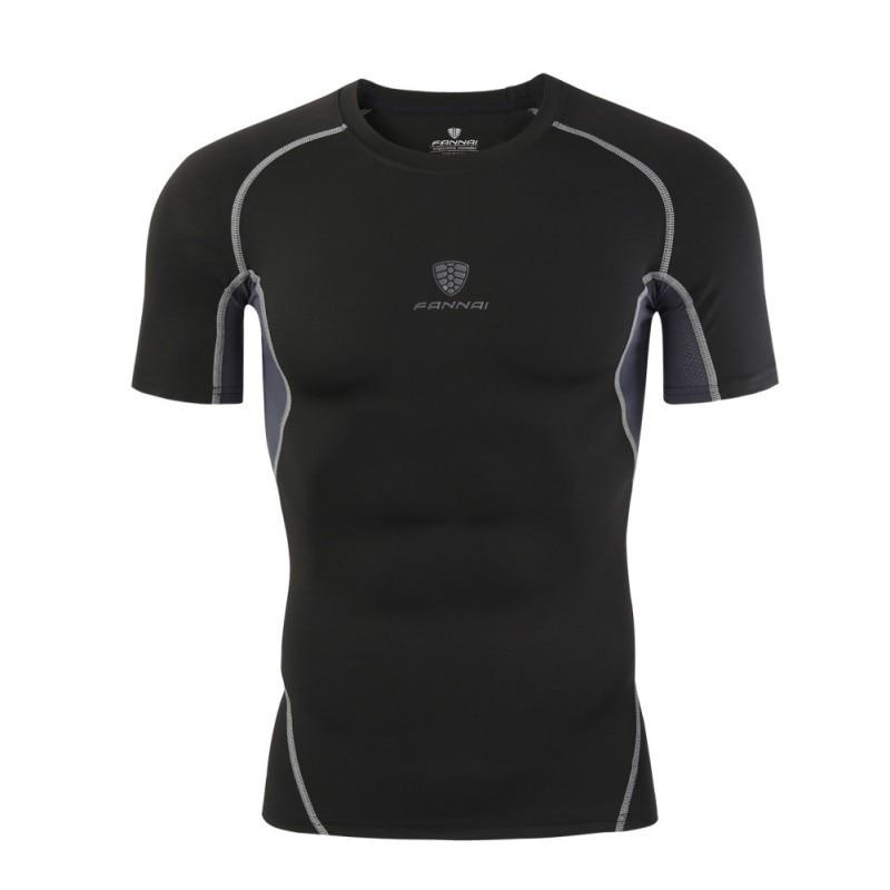 2017 Männer Lauf Dry Kompression Kurzarm T Shirts Schnell Trocknend Atmungs Enge Sport T-shirt