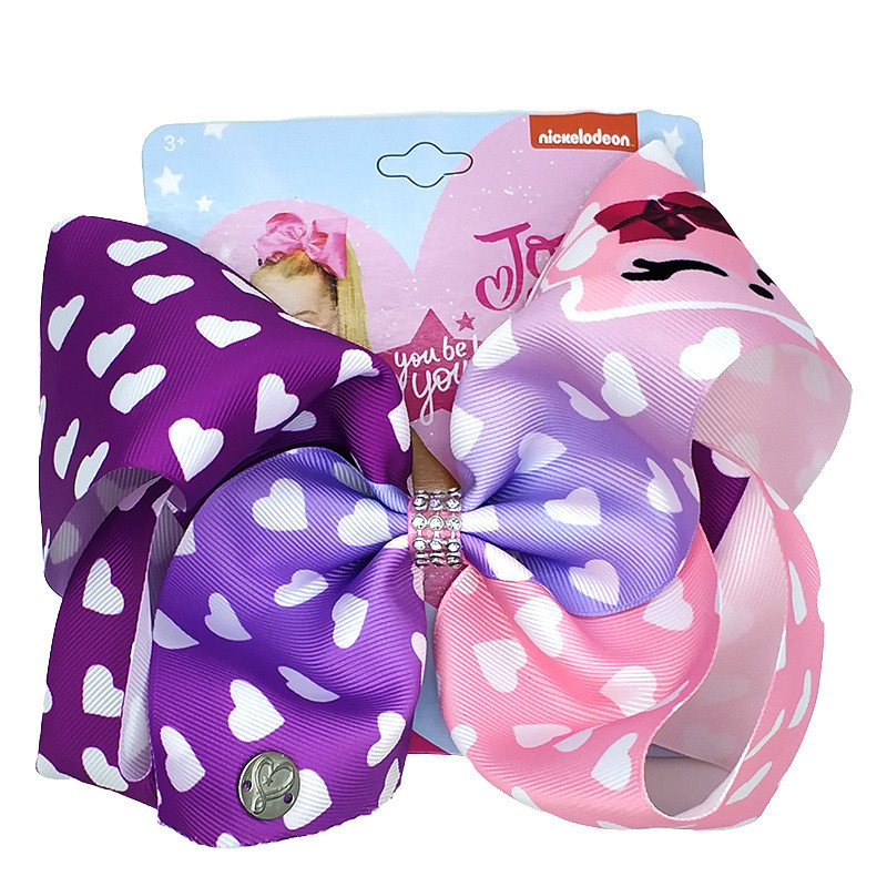 """8""""  Baby Hair Clip Large Unicorn Hair Bows For Girls With Clips Bowknot Hairpin Handmade Hair Accessories"""