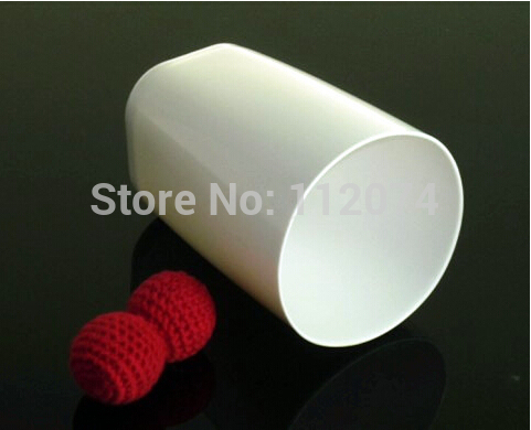 Chop Cup (Porcelain White,Plastic) /cup magic - magic Trick,accessories,prop,comedy magic,2015 new,free shipping