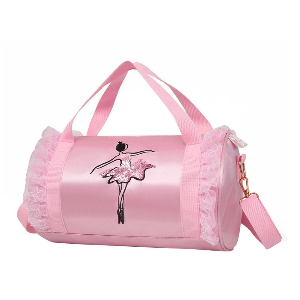 3 Colors Ballet Bag For Girls Toddler Cute Ribbon Embroidery Dance Bag For Ballet Kids Children Dance Backpack Dancing Bags