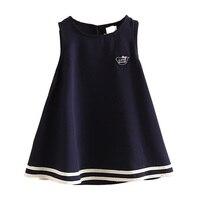 Baby College Wind Dress Summer Girls Kids Children Sleeveless