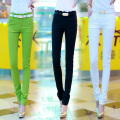 2015 Super good cotton pants for women elastic slim tight fitting skinny pencil pants OL women casual pants FREE GFIT