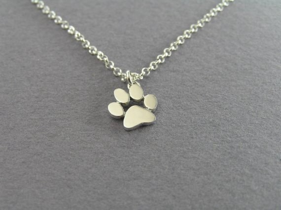 Jisensp Fashion Cute Pets Dogs Footprints Paw Chain Pendant Necklace Necklaces & Pendants Jewelry for Women Chokers Necklace