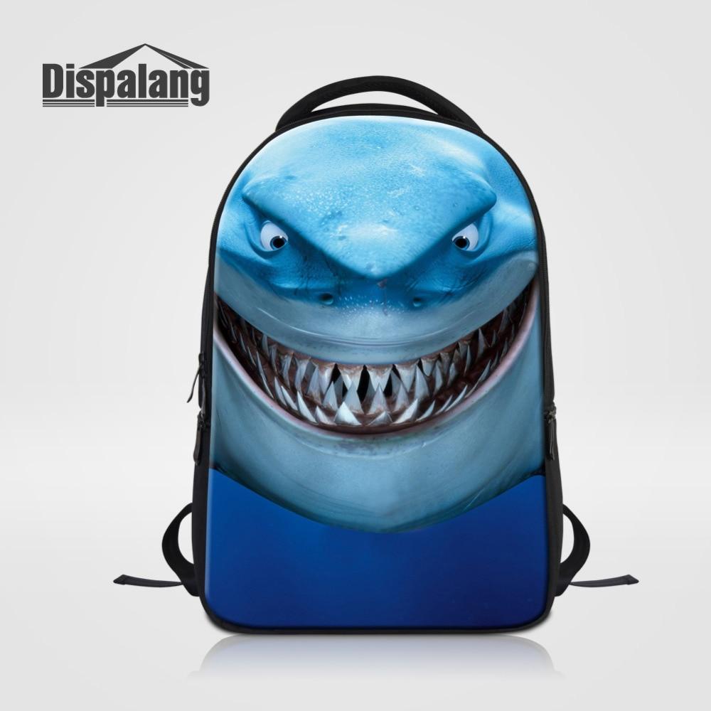 Dispalang Casual Women Laptop Backpack Sea Animal Printing Large Backpack Shark Dolphin School Bag For Teenagers Mens Bagpack