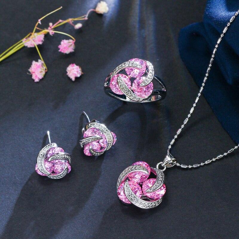 ThreeGraces New Fashion 925 ստերլինգ արծաթյա - Նորաձև զարդեր - Լուսանկար 4
