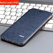 купить case for xiaomi redmi note 5 pro cover flip case leather book Mofi luxury soft silicon global redmi note 5 redmi note 5 pro case дешево