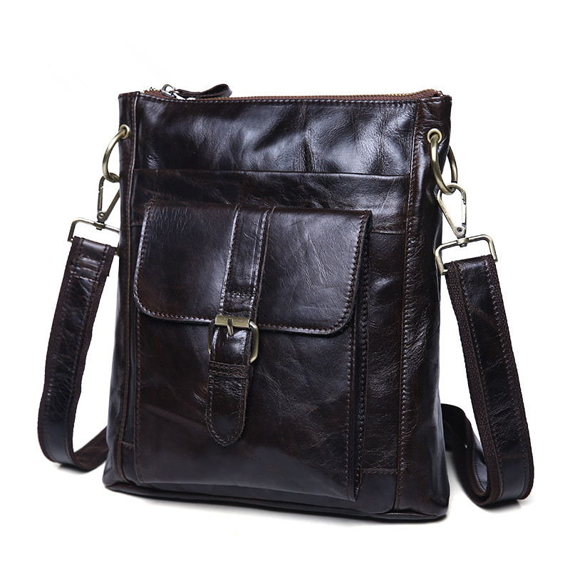 Vintage 100% Guarantee Real Skin Genuine Leather Cowhide Small Women / Men Messenger Bags Ipad Bag #M8691