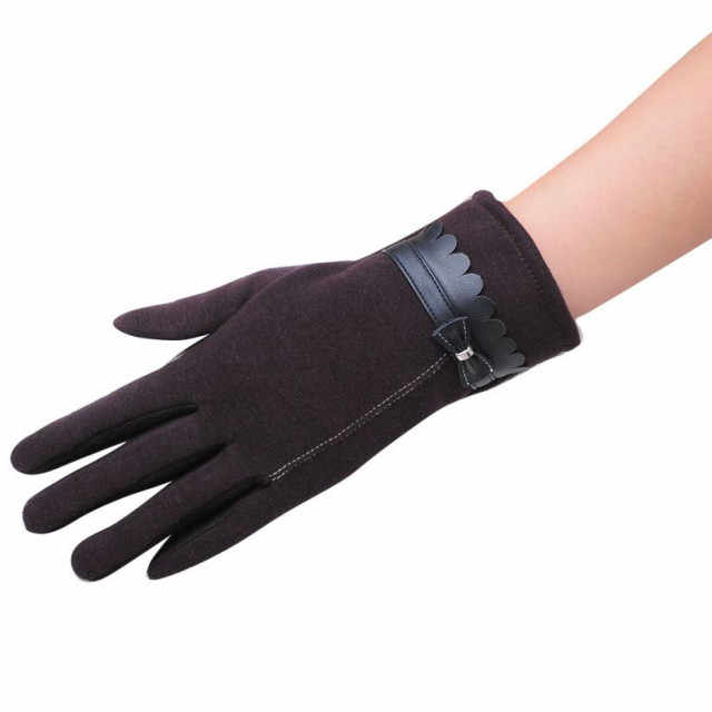 ba63d05b4946e4 Detail Feedback Questions about Winter Warm Gloves 2018 Women Luxury  Bowknot Mittens Elegant Lady Winter Gloves Solid Leather Gloves Women  guantes mujer ...