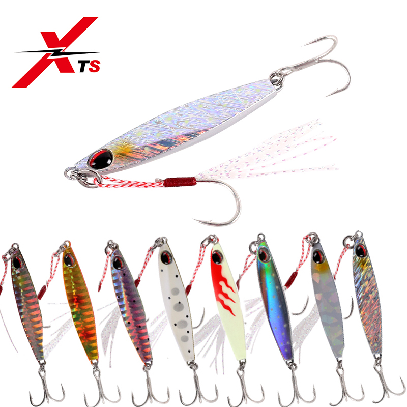 XTS Casting Shore Jigging Lures Lead Fish Head Metal Spoon New Sea <font><b>Bass</b></font> Fishing Tackle Spinner Bait slow jig peche leurre 4001N image