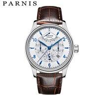 Parnis автоматические часы для мужчин часы модные повседневное механические для мужчин смотреть 2018 лучший бренд класса люкс механические