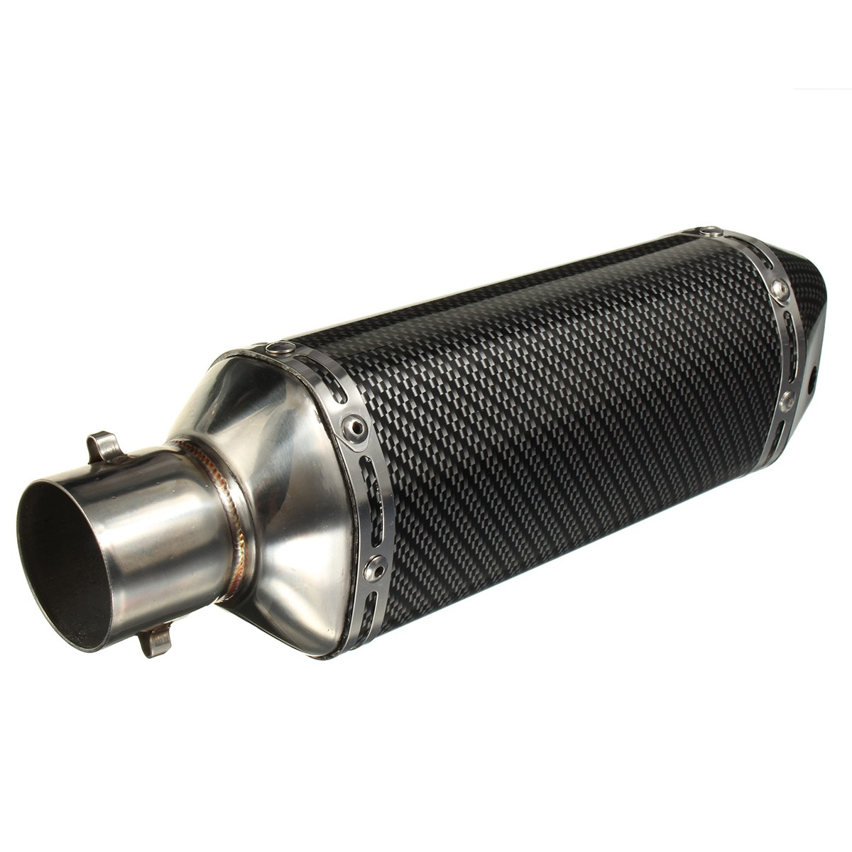 51mm Universal Carbon Fiber Color Motorcycle Exhaust Muffler Pipe For Dirt Bike Street Bike Scooter ATV Quad laser mark universial motorcycle motorcross dirt bike modified muffler sc carbon fiber exhaust pipe 61mm 51mm with connector
