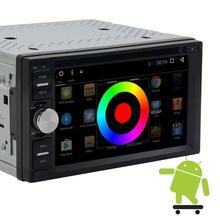Android 6.0 car GPS navegación estéreo 2 Din quadcore coche grabadora 1080 p reproductor de DVD FM Radios GPS wifi bluetooth espejo enlace