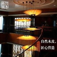 Юго Восточной Азии древесины подвесной светильник столовая гостиная китайский фонарь отель Inn Hotel вилла Творческий арт подвесной светильни