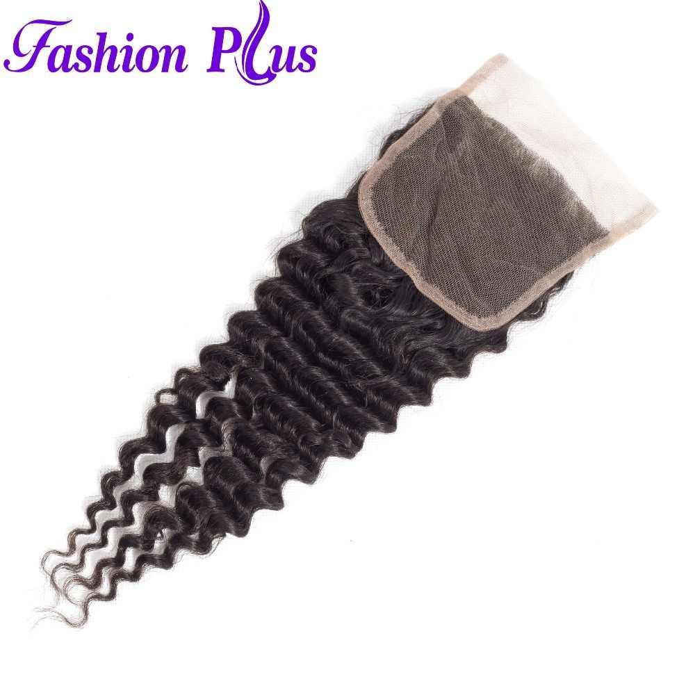 Человеческие волосы пучки с закрытием бразильские глубокие волнистые пучки с закрытием бесплатная часть remy Волосы для наращивания 3/4 пучков с закрытием