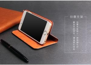 Image 4 - Fierre Shann inek derisi hakiki deri Flip Case iPhone X Xs 6 6s artı 7 8 artı Samsung için galaxy S8 S8 artı standı kapak