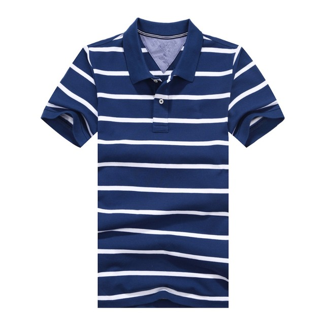 Summer Knitted Cotton Men Polo Shirt Hot Sale Fashion Male Striped Short Sleeve Polo Hombre Slim Men's Casual Shirt Plus Size