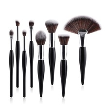 ODESSY Makeup Brushes 8 pcs Cosmetic Brushes Fan Blendding Highlighter Foundation Powder Concealer Lips Eye Make Up Brushes Set все цены