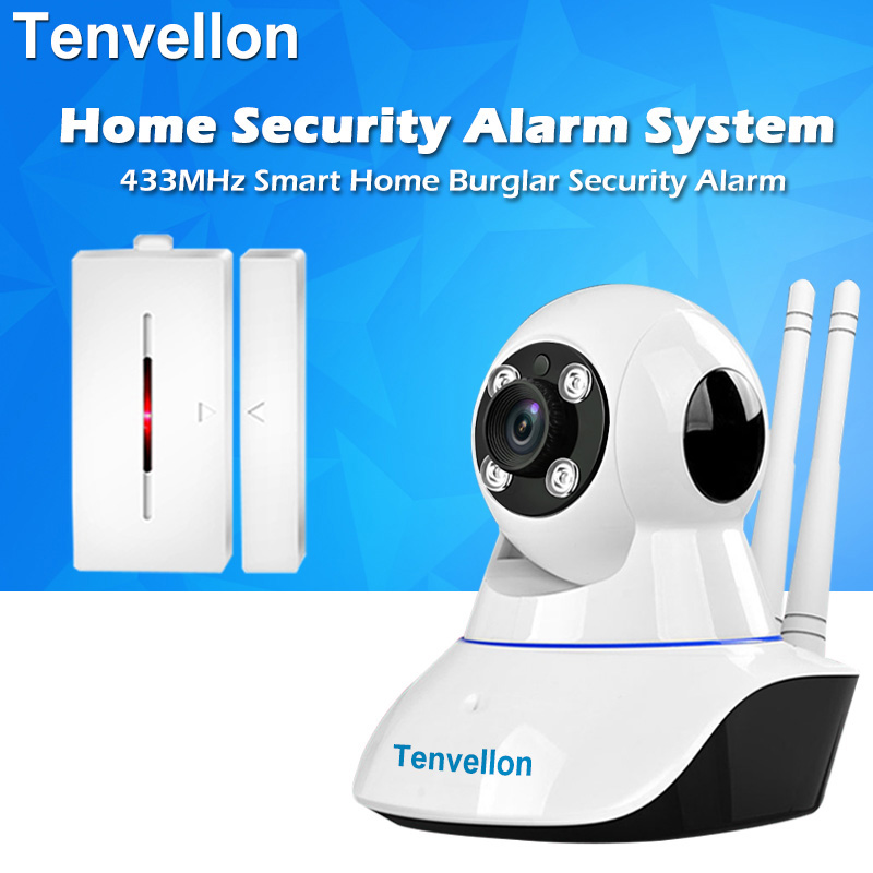 Security Alarm System WIFI IP Camera Night Vision Surveillance Camera With 1pc Wireless Door Sensor Alarm Detector Home Alarm футболка мужская abercrombie