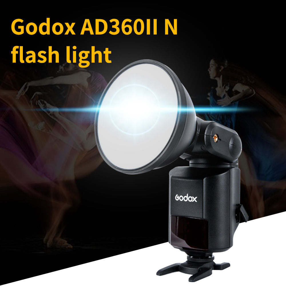 Godox Witstro AD360II-N 360W GN80 TTL Flash light & PB-960 Battery pack for Nikon DSLR Cameras & X1T/C/N/S X1T Wireless Trigger godox ad360 camera outdoor shooting flash kit ad 360 360w flash ft 16 wireless trigger ad s17 diffuser 60 60cm softbox
