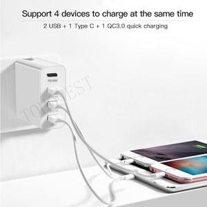 "Image 5 - 48W רב מהיר מטען פ""ד סוג C USB מטען עבור סמסונג iPhone Huawei Tablet QC 3.0 מהיר קיר מטען ארה""ב האיחוד האירופי בבריטניה AU Plug מתאם"