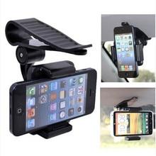 Universal Black Car Bracket Phone Holder Car Sun Visor Mount Holder Stand Bracket for iPhone Samsung Mobile Phone GPS Holder