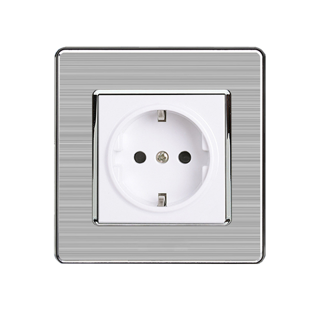 MiniTiger 16A EU Standard Wall Socket Luxury Power Outlet Stainless ...