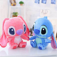 Candice Guo Plush Toy Super Cute Long Ears Stitch Interstellar Stuffed Doll Pink Blue Lover Birthday