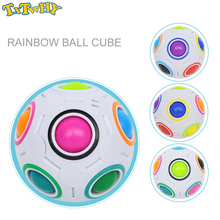 Fashion Adult Kid Ball Magic Cube Toy Plastic Creative Rainbow Football Puzzle Children Learning Educational Fidget Toys Gift creative mini football magic cube rainbow ball gift