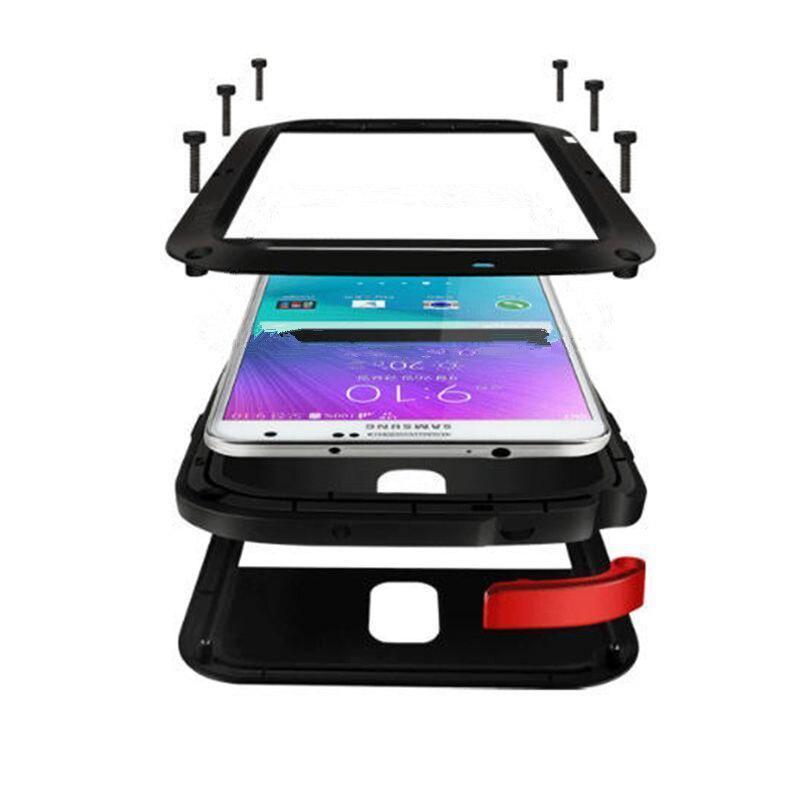 Anti Shock Hybrid Dura Heavy Metal Antiurto Cassa Dell'armatura Per Samsung Galaxy S9 S8 Più S7 S6 Bordo Nota 8 5 4 Coperchio di Protezione