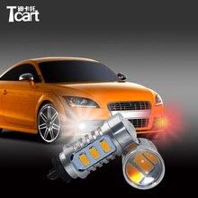 Tcart 2 шт. авто светодиодные лампы ошибок дневного света DRL светодиодные лампы для VW Volkswagen Golf MK7 для гольфа VII PW24W 5730 15smd