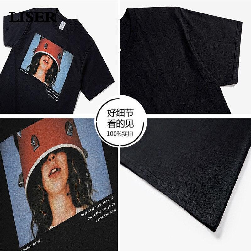 LISER T Shirt Men 2019 Summer O-Neck Men T-Shirt Casual Print Cotton Tops Tees Streetwear Tshirtsins