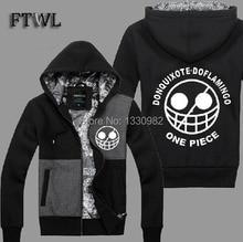 One Piece Hoodies Men Donquixote Doflamingo Cosplay Jacket Autumn and Winter Sweatshirt