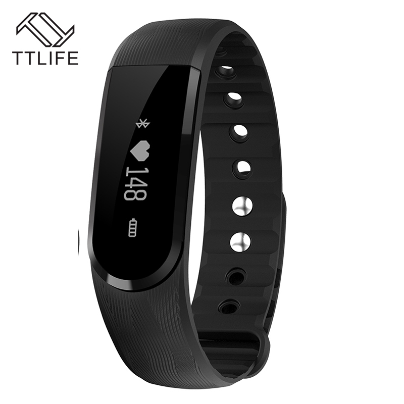 New TTLIFE ID101 Smart Bracelet Heart Rate Monitor Smartband Pulse Sports Fitness Activity Tracker Wristband For