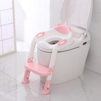 Dobrável bebê potty infantil crianças toalete assento de treinamento com escada ajustável portátil mictório potty treinamento assentos crianças cuidados