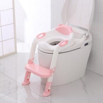 Pieghevole Del Bambino Vasino Infantili Per Bambini Sedile Toilet Training con Scala Regolabile Portatile Orinatoio Potty Training Sedili Per La Cura Dei Bambini
