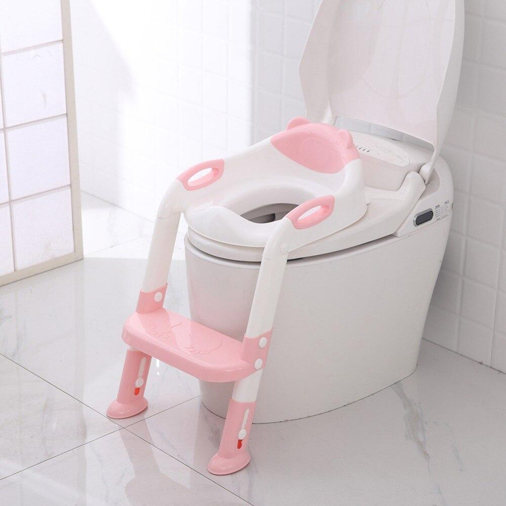 Pliant bébé pot infantile enfants toilette siège d'entraînement avec échelle réglable Portable urinoir pot formation sièges enfants soin